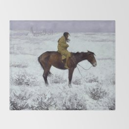"Frederic Remington Western Art ""The Herd Boy"" Throw Blanket"