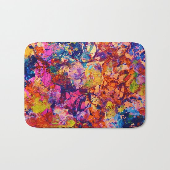 EVERYBODY'S COASTER- Bold Abstract Acrylic Painting Wine Glass Coaster Wow Autumn Home Decor Gift  Bath Mat