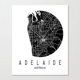 Adelaide White Round Canvas Print