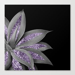 Agave Finesse Glitter Glam #3 #tropical #decor #art #society6 Canvas Print