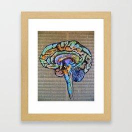 Mapping the Brain Framed Art Print