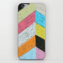Broken Chevron Chalk Art iPhone Skin