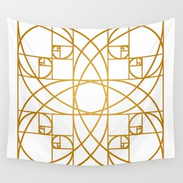 Golden Flower Wall Tapestry