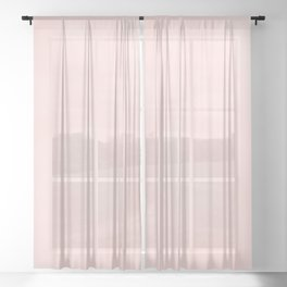 Pink Coral Sheer Curtain
