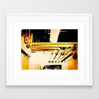 industrial Framed Art Prints featuring Industrial by Nina Saunders