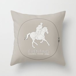Eventing Throw Pillow