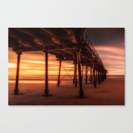 Under the Board Walk Canvas Print