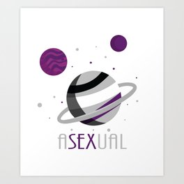 Asexual Space Planet Tee Art Print