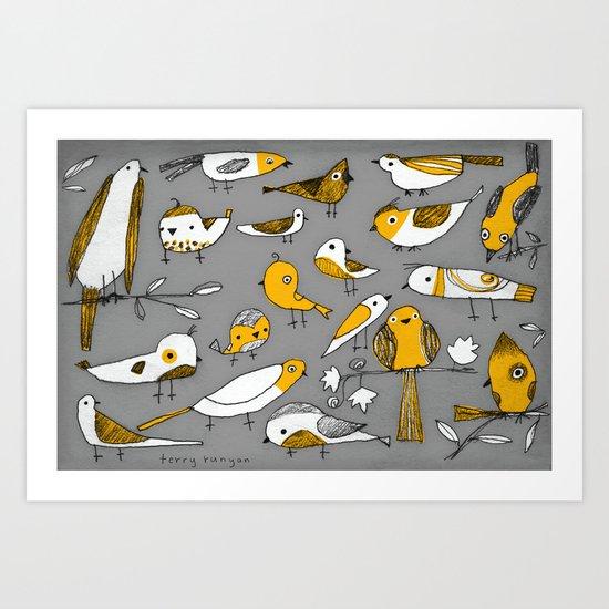 BIRD BUNCH Art Print