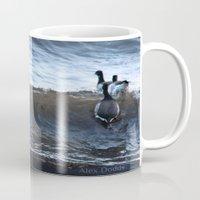 ducks Mugs featuring Ducks by Alex Dodds