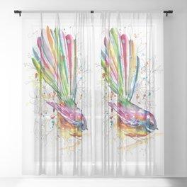 Sketchy Fantail Sheer Curtain