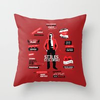 stiles stilinski Throw Pillows featuring Stiles Stilinski Quotes Teen Wolf by Alice Wieckowska