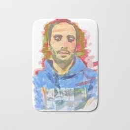 watercolor of the author's colors Bath Mat