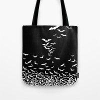 vampire Tote Bags featuring Vampire by Gehirnzellenoptik