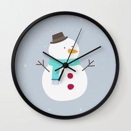 Snow winter man Wall Clock
