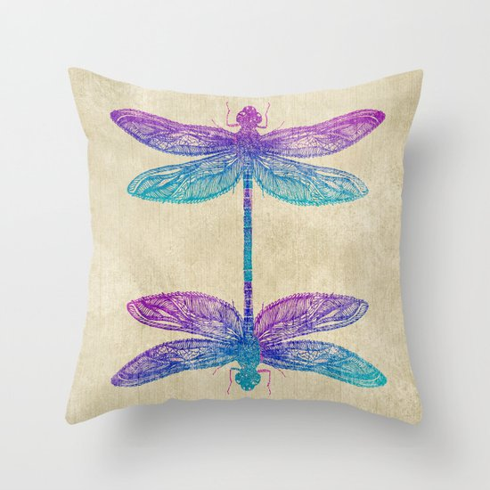 Throw Pillow With Dragonfly : Dragonfly Dreams Throw Pillow by Rskinner1122 Society6