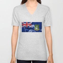 British Virgin Islands Flag Unisex V-Neck
