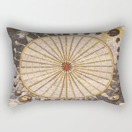 1657 Winds of the Earth by Jan Janszon Rectangular Pillow