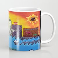 milwaukee Mugs featuring 8 Bit Milwaukee by Amanda Iglinski