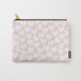 Pink & White- Valentine Love Heart Pattern-Mix & Match with Simplicty of life Carry-All Pouch
