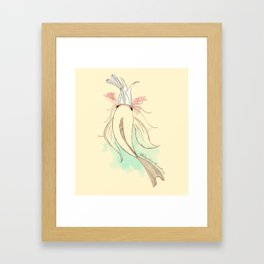 The big fish eat the small ones Framed Art Print