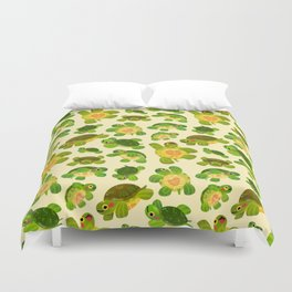 Red-eared slider Duvet Cover