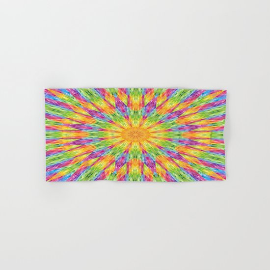 Rainbow Mandala Hand & Bath Towel