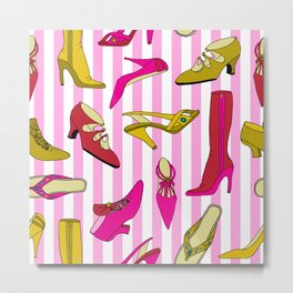 Stilettos and High Heels Shoe Pattern Metal Print