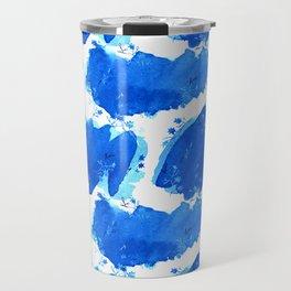 Abstract Watercolor | Paper Blue Travel Mug