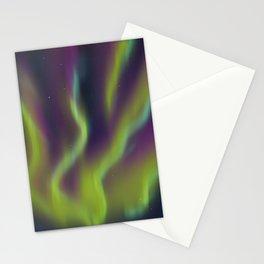 Neon Aurora Borealis Stationery Cards