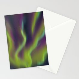 Neon Aurora Borealis Stationery Cards