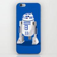 r2d2 iPhone & iPod Skins featuring R2D2 by Karen Mercado
