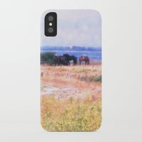 horses iPhone & iPod Cases featuring Horses  by Truly Juel