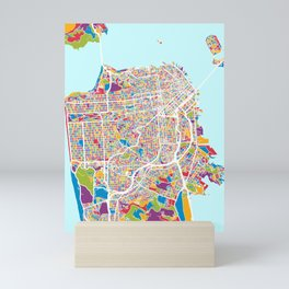 San Francisco City Street Map Mini Art Print