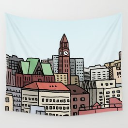 Hoboken Skyline Wall Tapestry