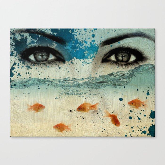 tear in the ocean Canvas Print