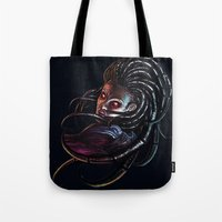starcraft Tote Bags featuring Queen of Blades by Denda Reloaded
