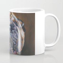 Shar Pei Dog art portrait from an original painting by L.A.Shepard Coffee Mug
