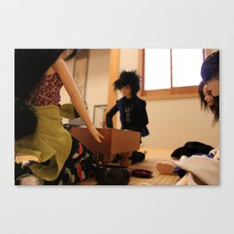 Tatami room game Canvas Print