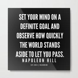 7  | Napoleon Hill Quote Series  | 190614 Metal Print