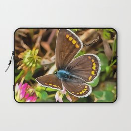 Common Blue Butterfly Polyommatus Icarus Laptop Sleeve