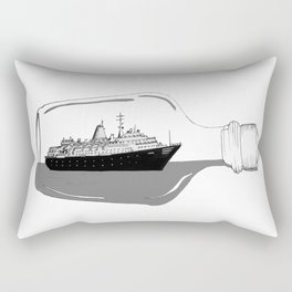 ship in a bottle Rectangular Pillow