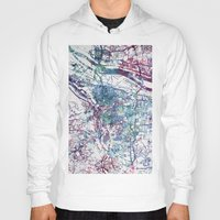 portland Hoodies featuring Portland map by MapMapMaps.Watercolors