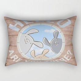 Sweet bunnies Rectangular Pillow