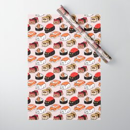 Sushi Persian Cat Wrapping Paper