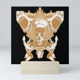 Captain Skull Illustration Mini Art Print