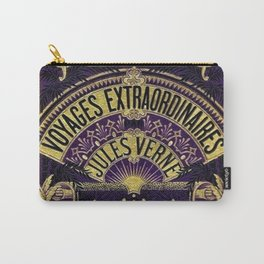 Jules Verne Voyages Extraordinaire Purple Lithographic Print by Jeanpaul Ferro Carry-All Pouch