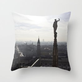 The Sentinels of Milan Throw Pillow