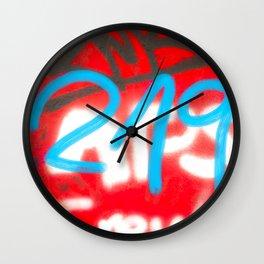 Red Graffiti District Wall Clock