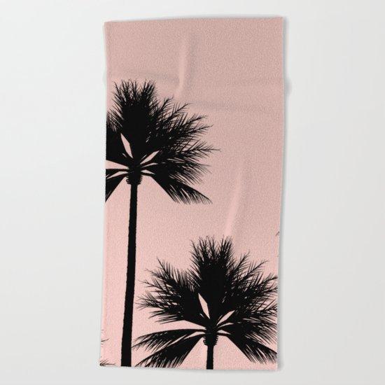 Midnight Palm Beach Towel
